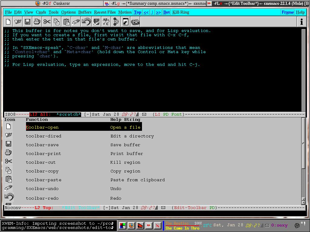 SXEmacs Screenshots
